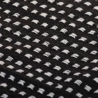 vidaXL Filt bomull fyrkanter 160x210 cm svart[6/6]