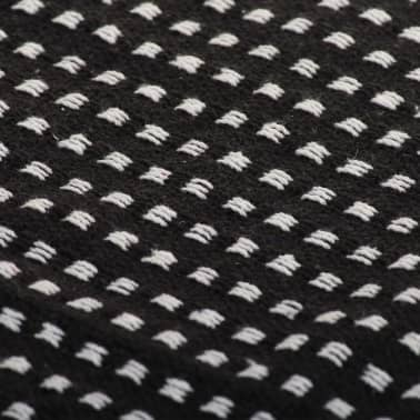 vidaXL Filt bomull fyrkanter 220x250 cm svart[6/6]