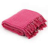 vidaXL Filt bomull fyrkanter 160x210 cm rosa