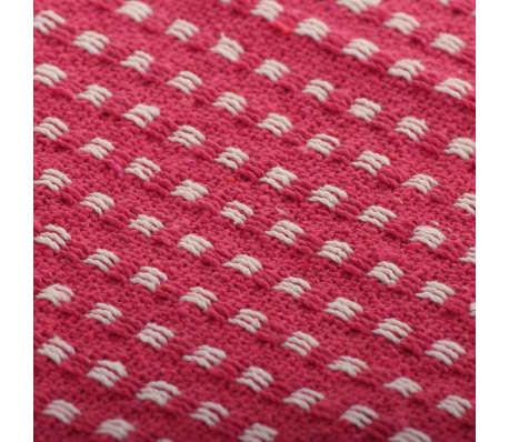 vidaXL Plaid vierkanten 160x210 cm katoen roze[6/6]