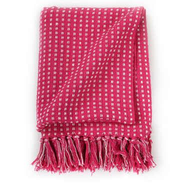 vidaXL Plaid vierkanten 160x210 cm katoen roze[3/6]