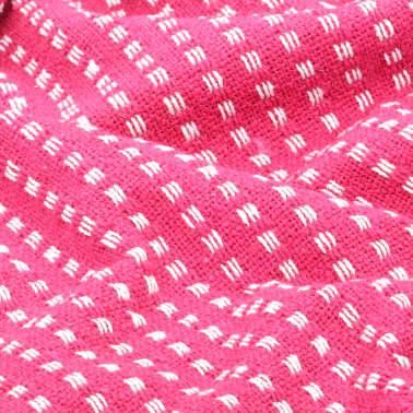 vidaXL Plaid vierkanten 160x210 cm katoen roze[5/6]