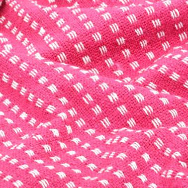 vidaXL Filt bomull fyrkanter 220x250 cm rosa[5/6]
