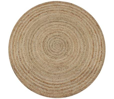vidaXL Alfombra redonda 90 cm yute trenzado[1/5]