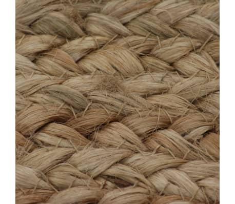 vidaXL Alfombra redonda 90 cm yute trenzado[5/5]
