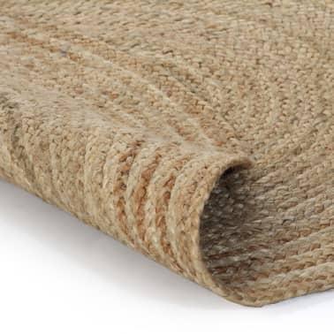 vidaXL Alfombra redonda 90 cm yute trenzado[2/5]