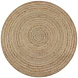 vidaXL Dywan pleciony z juty, 120 cm, okrągły