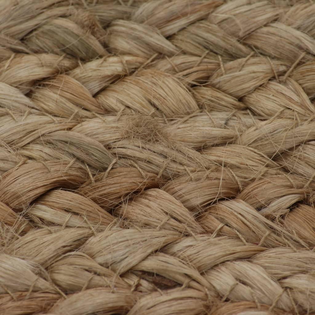 vidaXL Tapijt rond 120 cm gevlochten jute