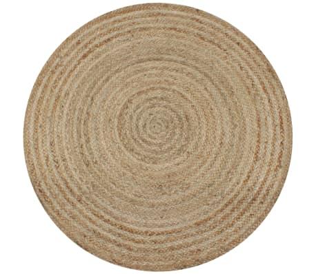 vidaXL Area Rug Braided Jute 150 cm Round