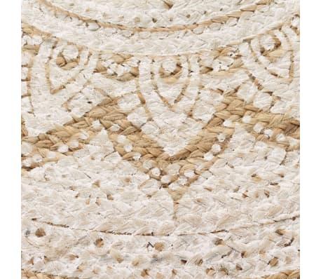 acheter vidaxl tapis jute tress imprim 90 cm rond pas cher. Black Bedroom Furniture Sets. Home Design Ideas