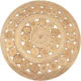 vidaXL Area Rug Braided Design Jute 120 cm Round