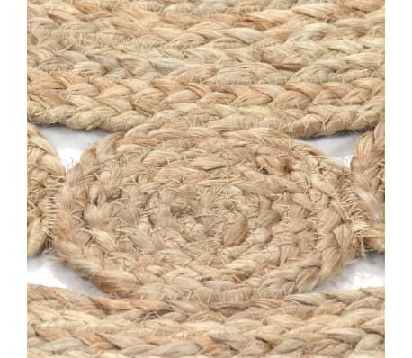 acheter vidaxl tapis jute design tress 120 cm rond pas cher. Black Bedroom Furniture Sets. Home Design Ideas