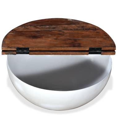 vidaXL Kavos staliukų kompl., 2d., perdirbta med., baltas, apvalus[7/13]