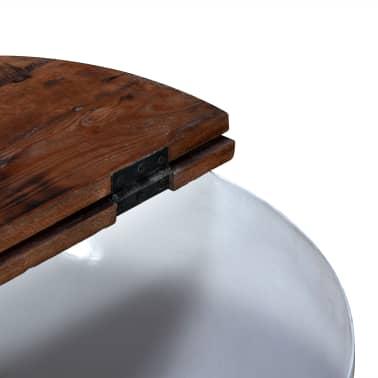 vidaXL Kavos staliukų kompl., 2d., perdirbta med., baltas, apvalus[8/13]