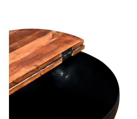 vidaXL Kavos staliukas, perdirbta mediena, dubens forma, juodas[5/11]