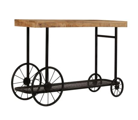 vidaXL Console Table Solid Mango Wood 115x36x76 cm