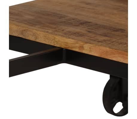 vidaXL Desk with Folding Stool Solid Mango Wood 115x50x76 cm[7/16]