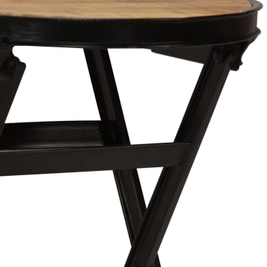 vidaXL Desk with Folding Stool Solid Mango Wood 115x50x76 cm[5/16]