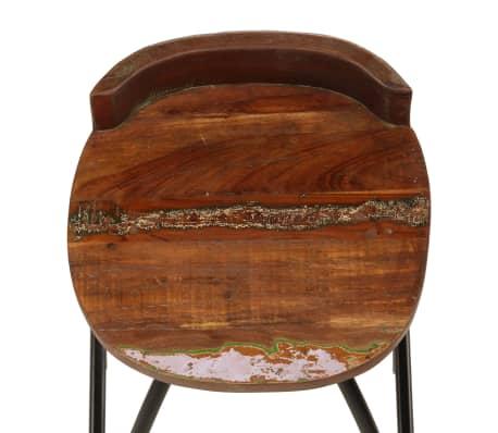 vidaXL Conjunto de muebles de bar 3 piezas madera maciza reciclada[11/24]