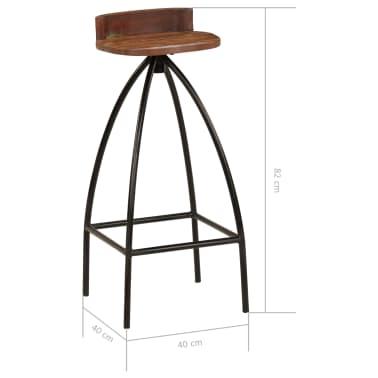 vidaXL Conjunto de muebles de bar 3 piezas madera maciza reciclada[13/24]