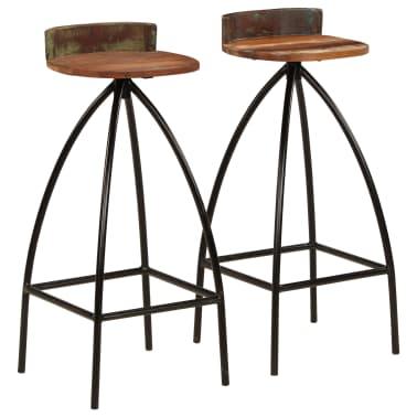 vidaXL Conjunto de muebles de bar 3 piezas madera maciza reciclada[7/24]