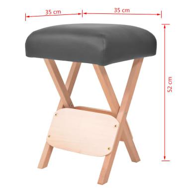 vidaXL Massage-Klapphocker 12 cm Dicker Sitz + 2 Nackenrollen Schwarz[5/5]