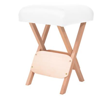 vidaXL Tabouret de massage pliant avec siège 12 cm d'épaisseur Blanc[1/4]