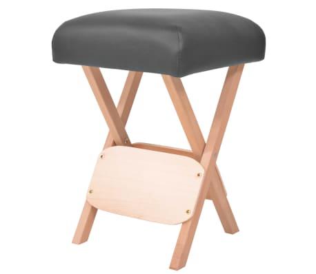 vidaXL Sulankstoma taburetė masažui, juoda, 12cm storio sėdynė[1/4]