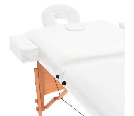 vidaXL Massageliege 2 Zonen Tragbar 10 cm Polsterung Weiß[4/11]