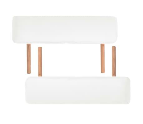 vidaXL Table de massage pliable à 2 zones 10 cm d'épaisseur Blanc[7/11]