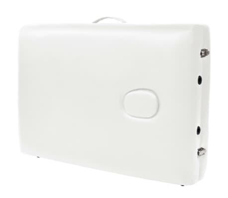 vidaXL Table de massage pliable à 2 zones 10 cm d'épaisseur Blanc[9/11]