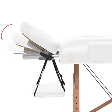 vidaXL Table de massage pliable à 2 zones 10 cm d