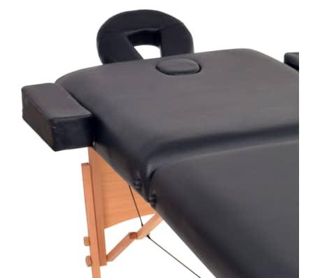 vidaXL Massageliege 2 Zonen Tragbar 10 cm Polsterung Schwarz[4/11]