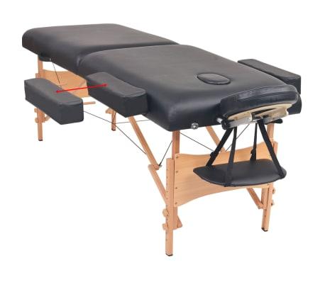 vidaXL Massageliege 2 Zonen Tragbar 10 cm Polsterung Schwarz[6/11]