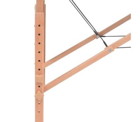 vidaXL Massageliege 2 Zonen Tragbar 10 cm Polsterung Schwarz[8/11]