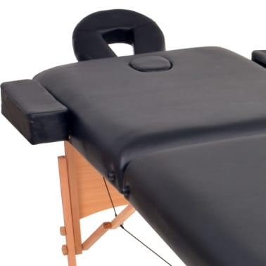 vidaXL Table de massage pliable à 2 zones 10 cm d