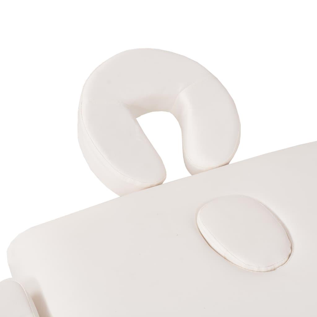 3-tsooniline massaažilaud 10 cm paksune, valge