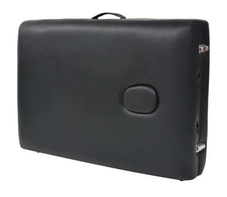 vidaXL Table de massage pliable à 3 zones 10 cm d'épaisseur Noir[10/12]