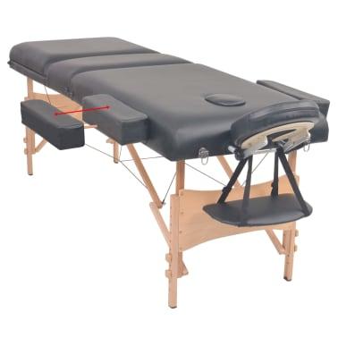vidaXL Table de massage pliable à 3 zones 10 cm d