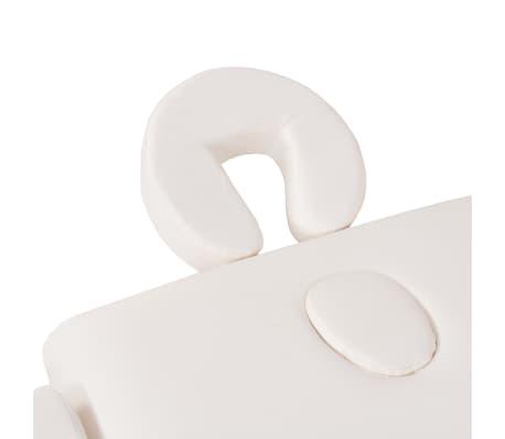 vidaXL Massageliege 3 Zonen Tragbar mit Hocker 10 cm Polsterung Weiß[10/14]