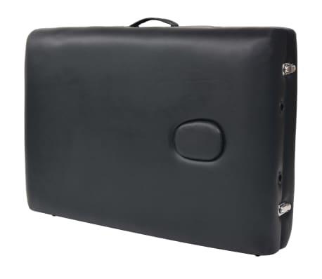 vidaXL Table de massage pliable et tabouret 10 cm d'épaisseur Noir[11/14]