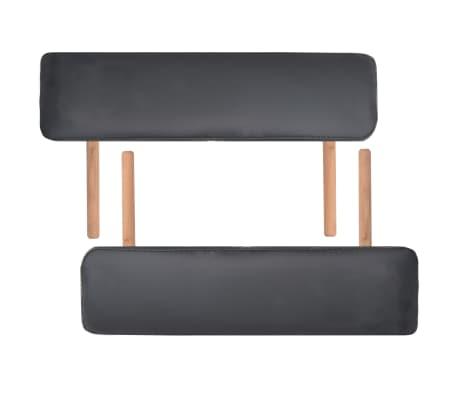 vidaXL Table de massage pliable et tabouret 10 cm d'épaisseur Noir[7/14]