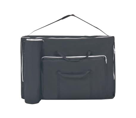 vidaXL Table de massage pliable et tabouret 10 cm d'épaisseur Noir[10/14]