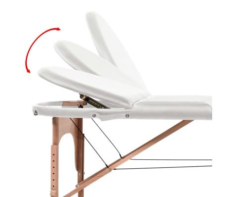 vidaXL Massageliege Tragbar mit 2 Lagerungskissen 10 cm Polsterung Weiß[9/12]