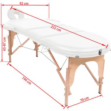 vidaXL Massageliege Tragbar mit 2 Lagerungskissen 10 cm Polsterung Weiß[12/12]