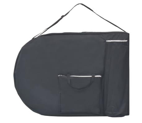 vidaXL Table de massage pliable 10 cm d'épaisseur et 2 traversins Noir[5/12]
