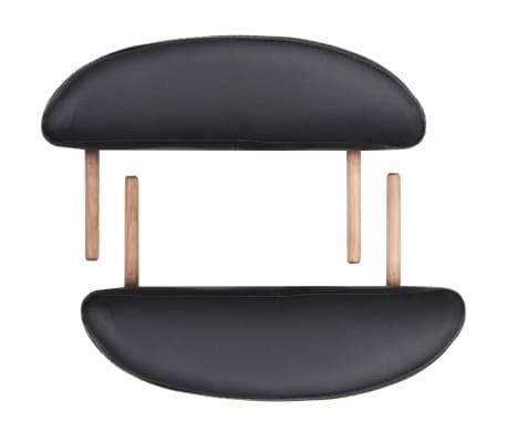vidaXL Table de massage pliable 10 cm d'épaisseur et 2 traversins Noir[6/12]