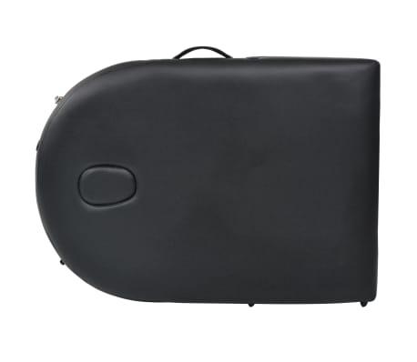 vidaXL Table de massage pliable 10 cm d'épaisseur et 2 traversins Noir[8/12]