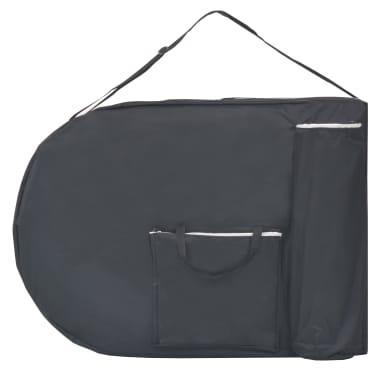 vidaXL Sulankst. masaž. stal., 10 cm storio, su 2 atram., oval., juod.[5/12]