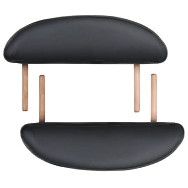 vidaXL Sulankst. masaž. stal., 10 cm storio, su 2 atram., oval., juod.[6/12]